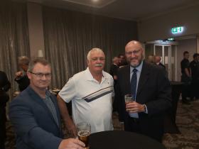 L-R Dane Marsh, Steve Williams, Mick Harris